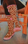Barbara's Giraffes, watercolor